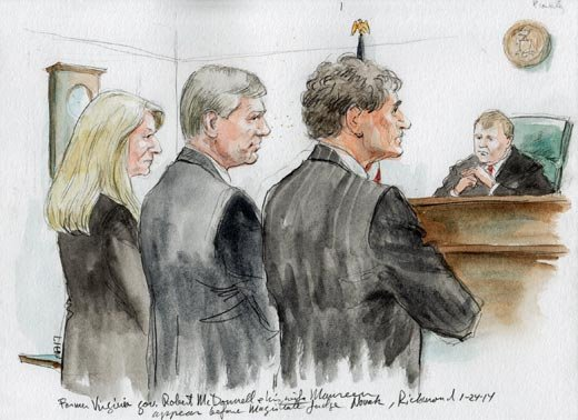Artist Rendering of McDonnells in Court.