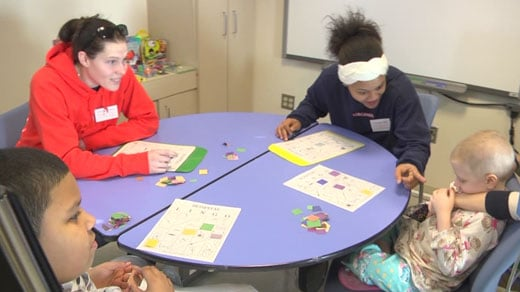 UVA women's basketball players visit UVA Children's Hospital