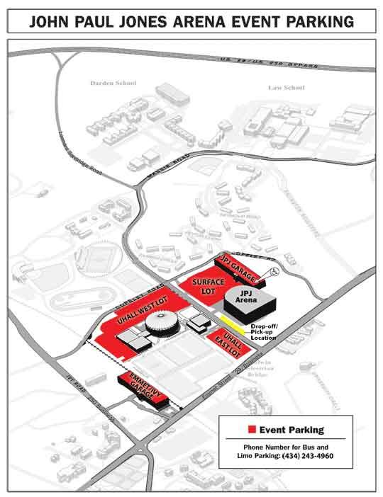 John Paul Jones Arena event parking