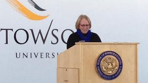Sharon Love speaks at Towson University