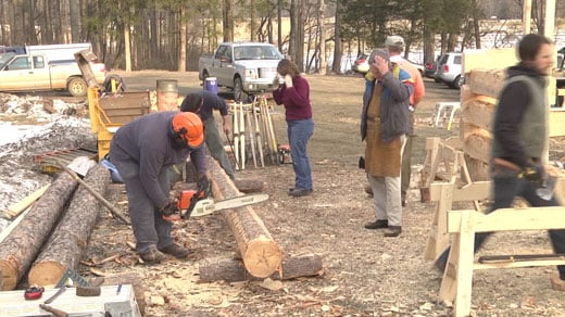 Volunteers work at Montpelier