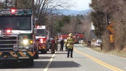 Fire Crews on Stony Point Road
