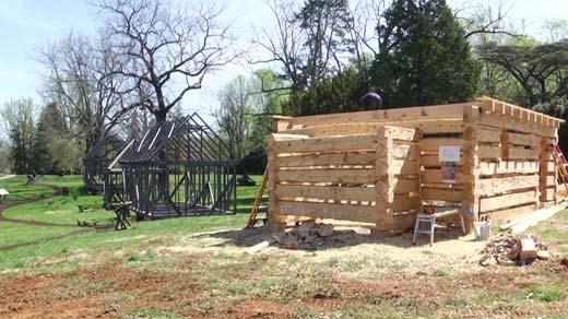 Log cabin at Montpelier