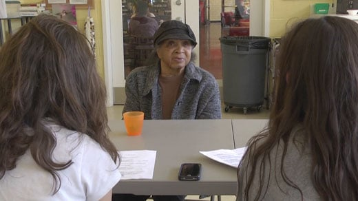 Julia Jones speaks with STAB students