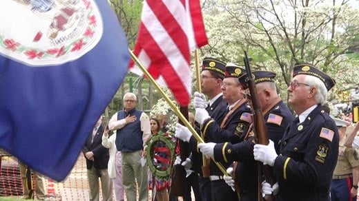 Vietnam Memorial dedication ceremony