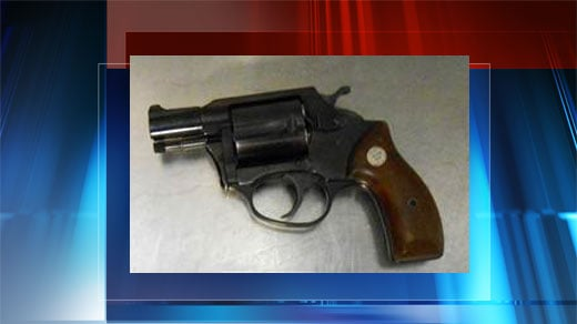 .38 caliber handgun caught by TSA officers at the security checkpoint at CHO