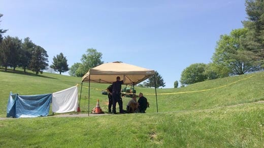 Police on scene at Gypsy Hill Park golf course Thursday