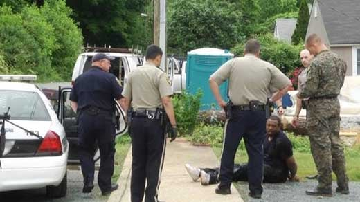 Police taking Kevin Key into custody
