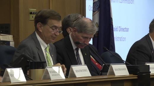 Republican Senator Emmett Hanger, left, has a proposal that could bring compromise to a budget stalemate.