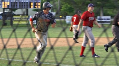 Cole Gruber scored Waynesboro's only run