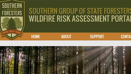 http://www.southernwildfirerisk.com/