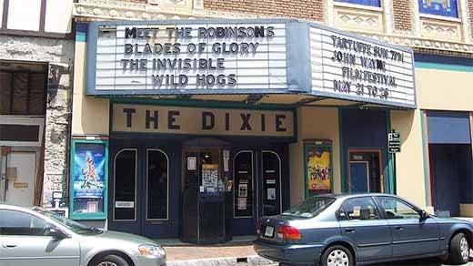 Dixie Theater photo courtesy of Wikimedia Commons