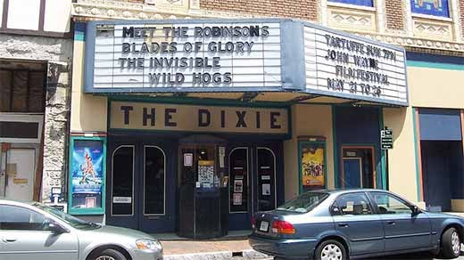 Dixie Theater photo courtesy of Wikimedia Commons