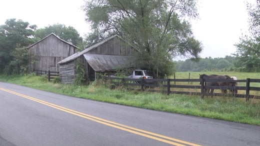 SUV crashes into barn in Albemarle