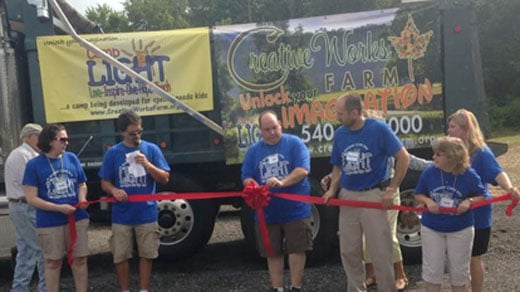 Ribbon-cutting at Creative Works Farm