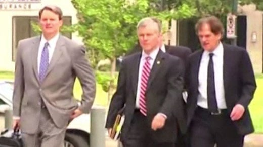 Former Governor Bob McDonnell arrives for day three of trial (FILE IMAGE)