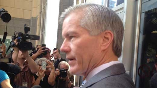 Former Governor Bob McDonnell outside federal court