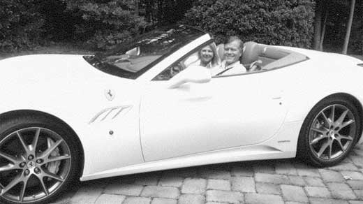 The McDonnells in Jonnie Williams' Ferrari