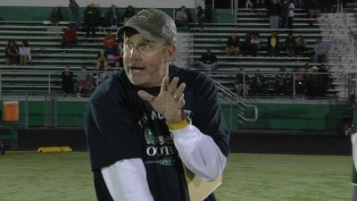 Louisa County football coach Mark Fischer