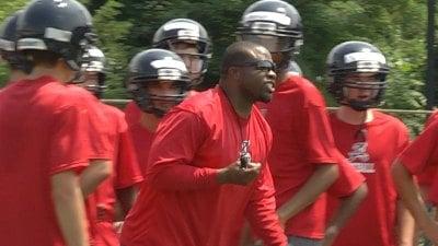 Albemarle head coach Brandon Isaiah