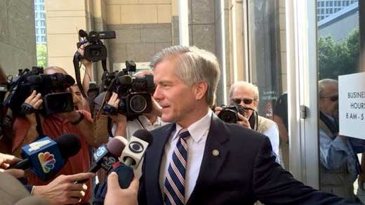 Bob McDonnell arriving for court