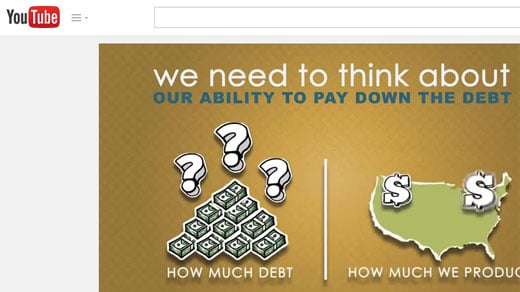 YouTube video on national debt