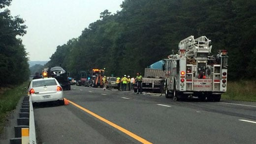 Crews at crash on I-64 westbound