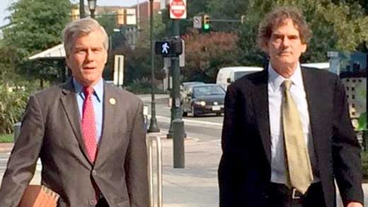 Former Governor McDonnell arriving at court
