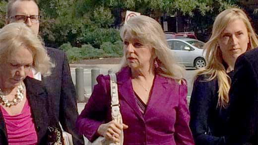 Maureen McDonald arriving at court