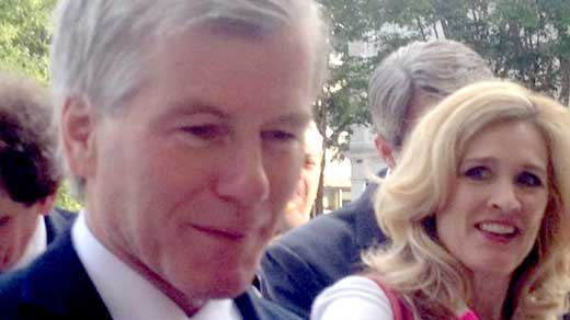 Former Governor Bob McDonnell arriving at the federal courthouse