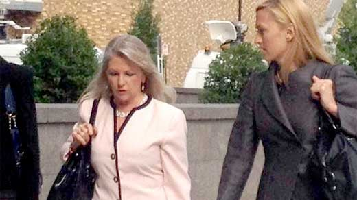 Former first lady Maureen McDonnell arriving to court