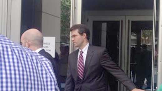 Martin Kent leaving the courthouse