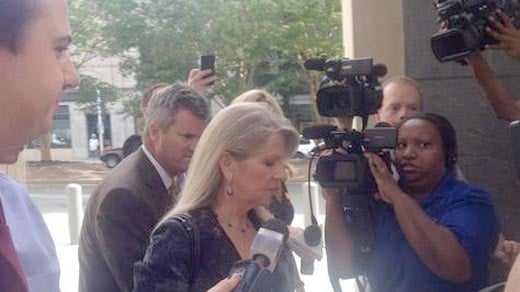 File photo:  Maureen McDonnell arriving at court for her corruption trial