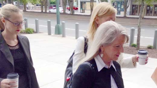 Maureen McDonnell arriving to court for motions hearing