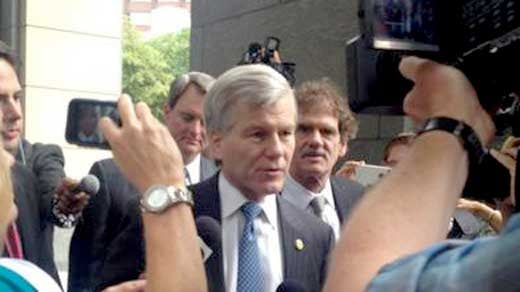 Bob McDonnell arriving to court