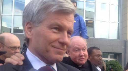 Former Governor Bob McDonnell leaving court