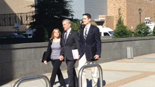 Former Governor Bob McDonnell arrives to court