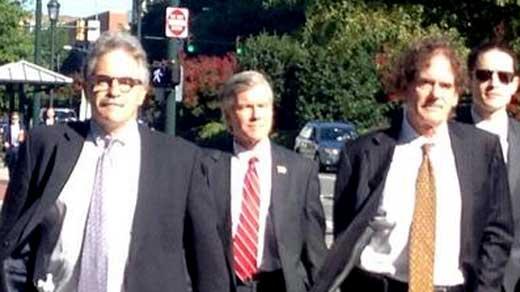 Former Governor Bob McDonnell arriving at court