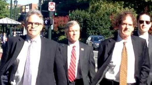 Former Governor Bob McDonnell arriving at court