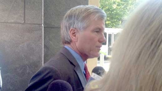 Bob McDonnell arriving at court