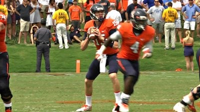 Matt Johns three two touchdowns and no interceptions in his college debut