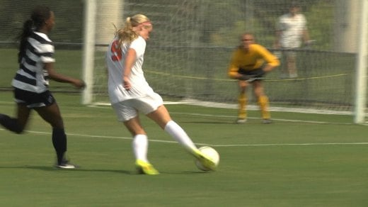 Mackenzy Doniak scored two goals and had one assist in UVa's 5-0 shut out