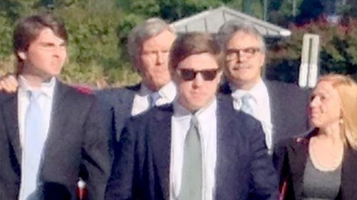 Former Governor Bob McDonnell arriving to court