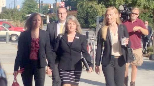 Maureen McDonnell arriving to court