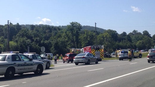 Accident on Rt. 29 at Plank Road