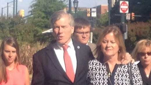 Bob McDonnell arriving at court.