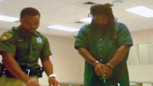 File Photo: Jesse Matthew appears via teleconference at his bond hearing in Texas.