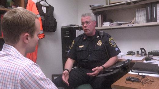 Sgt. Brian Edwards talks with NBC29's Sean Cudahy