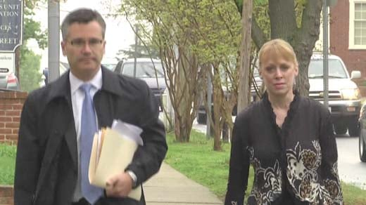 Gil Harrington and Lee Livingston approach courthouse