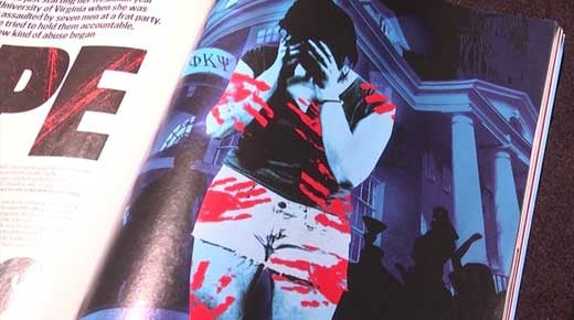 Photo of article that appeared in Rolling Stone Magazine